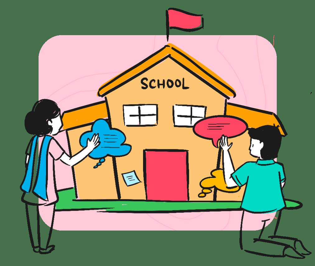 School sketch illustration