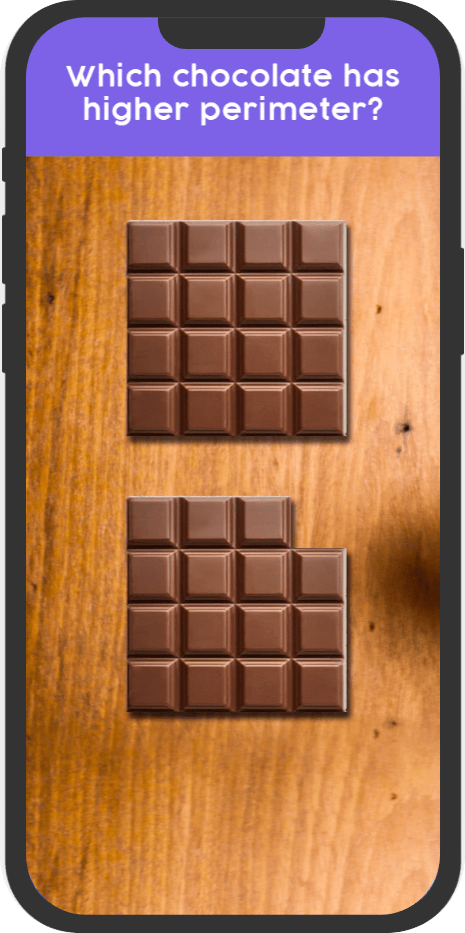 Thinksheets question with chocolate and its perimeter