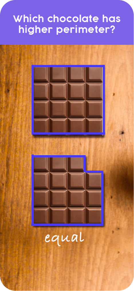 Thinksheets question with chocolate and answer marked on it