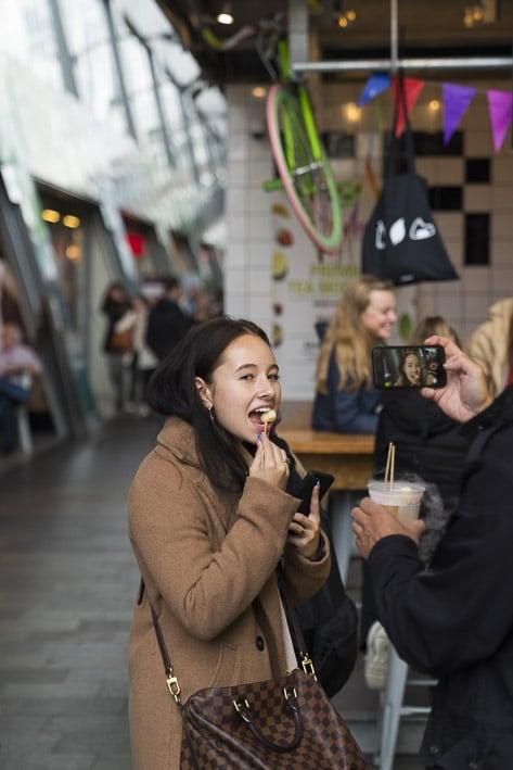 Photo professionnelle mise en valeur de produit et marque, photo Markthal à Rotterdam par Stevents Frémont photographe professionnel