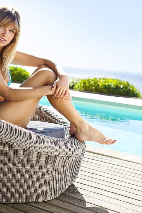 Photos professionnelles pouf jardin pour piscine extérieur - outdoor