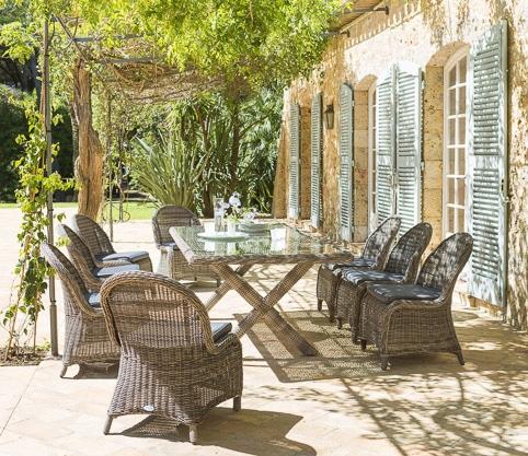 Photos professionnelles salon de jardin tresse extérieur - outdoor