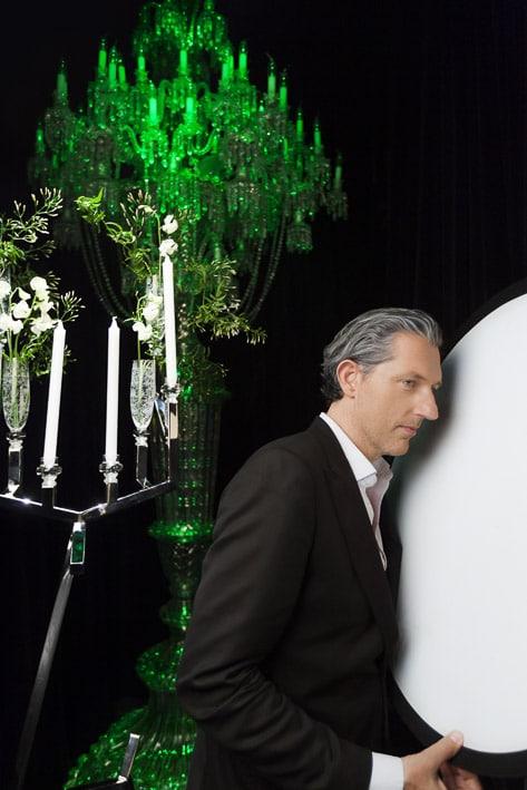 Photo portrait professionnelle par Stevens Frémont, photo portrait Baccarat Marcel Wanders designer