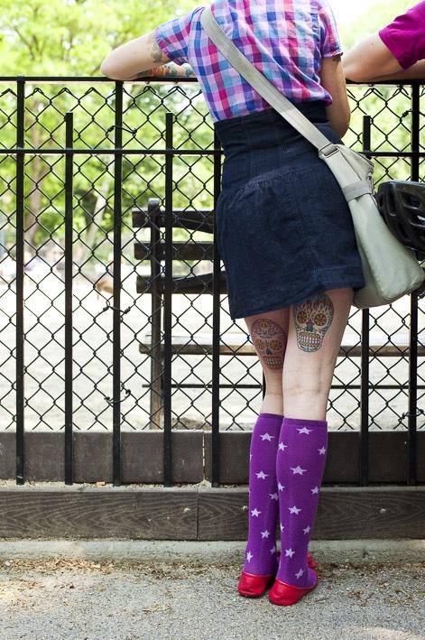 Photo mode professionnelles réalisation par un professionnel, photo extérieur tatouage à New York par Stevens Frémont photographe professionnel