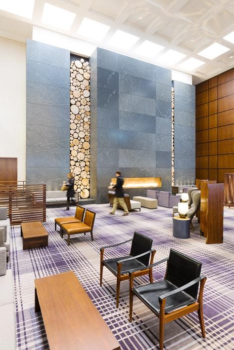 Réalisation photos professionnelles d'intérieur, Décoration Hall Intérieur Hotel Minneapolis par Stevens Frémont