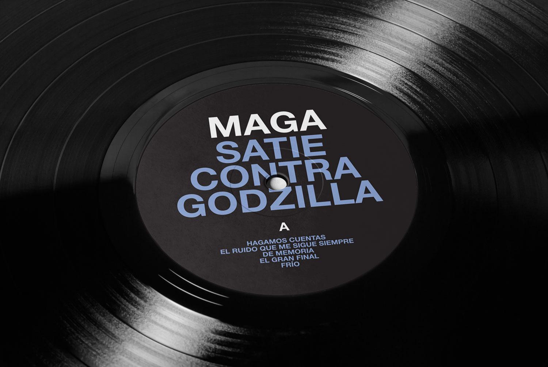 Maga Satie Contra Godzilla vinyl, design by Diego Delgado
