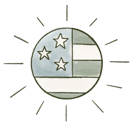 An illustration of the American flag.