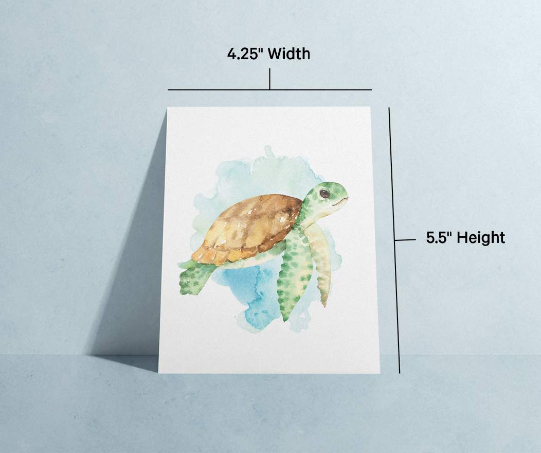 Card specifications info; Textured finish, soy-based ink, blank interior