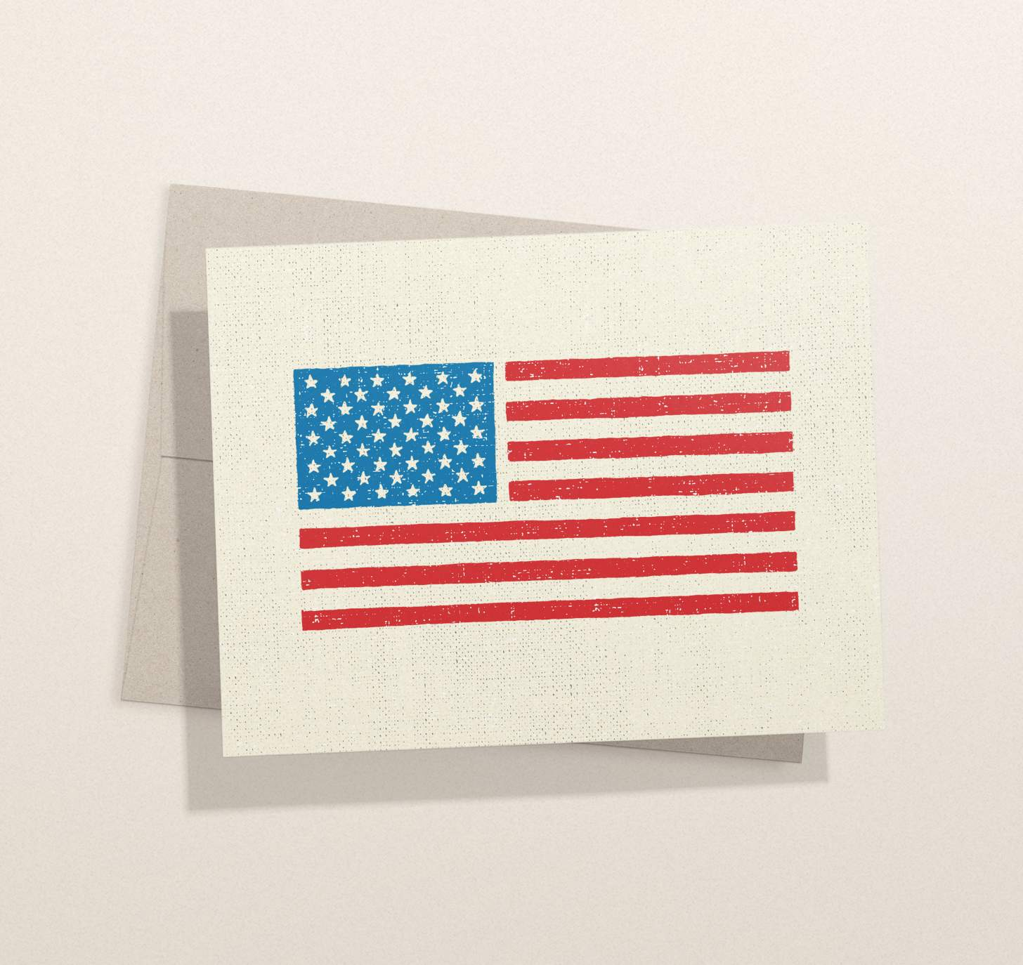 American flag card with envelope