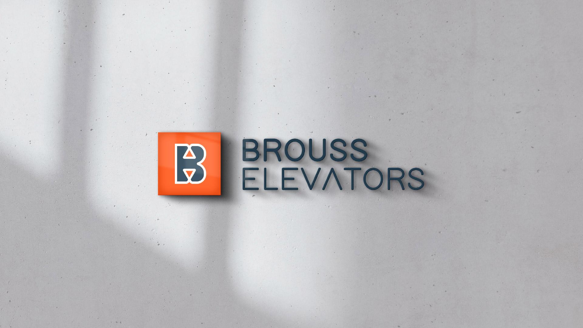 Brouss Elevators logo design by Kinetik Lab