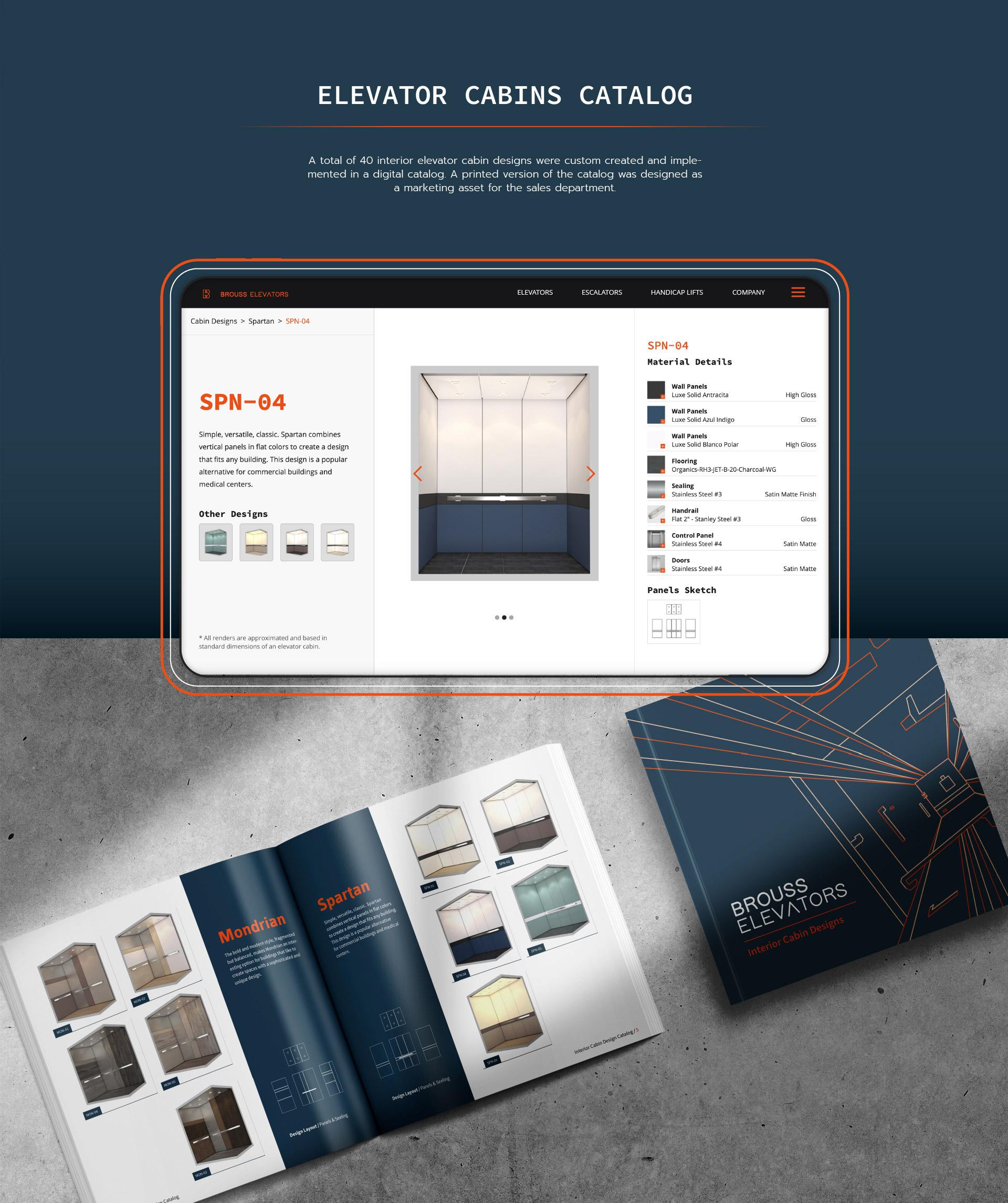 Brouss Elevators digital catalog development by Kinetik Lab