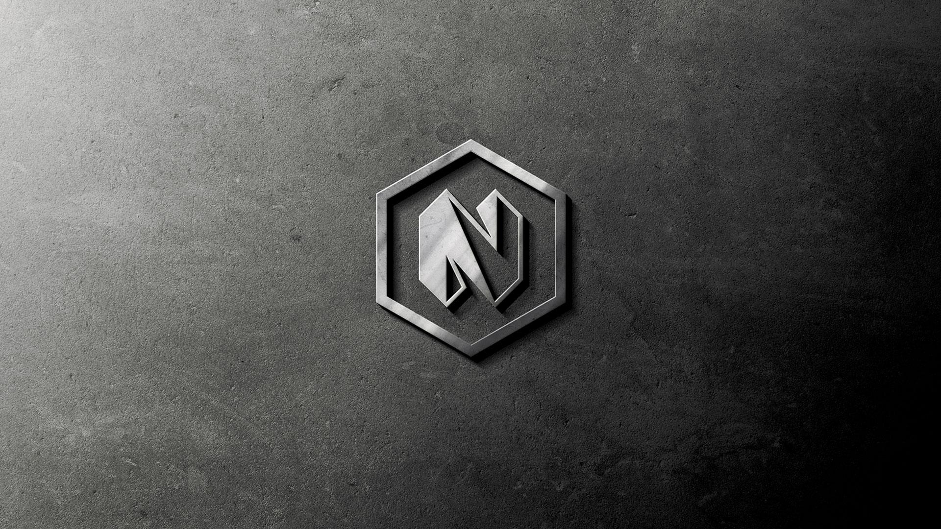 Nunez logo design by Kinetik Lab Miami