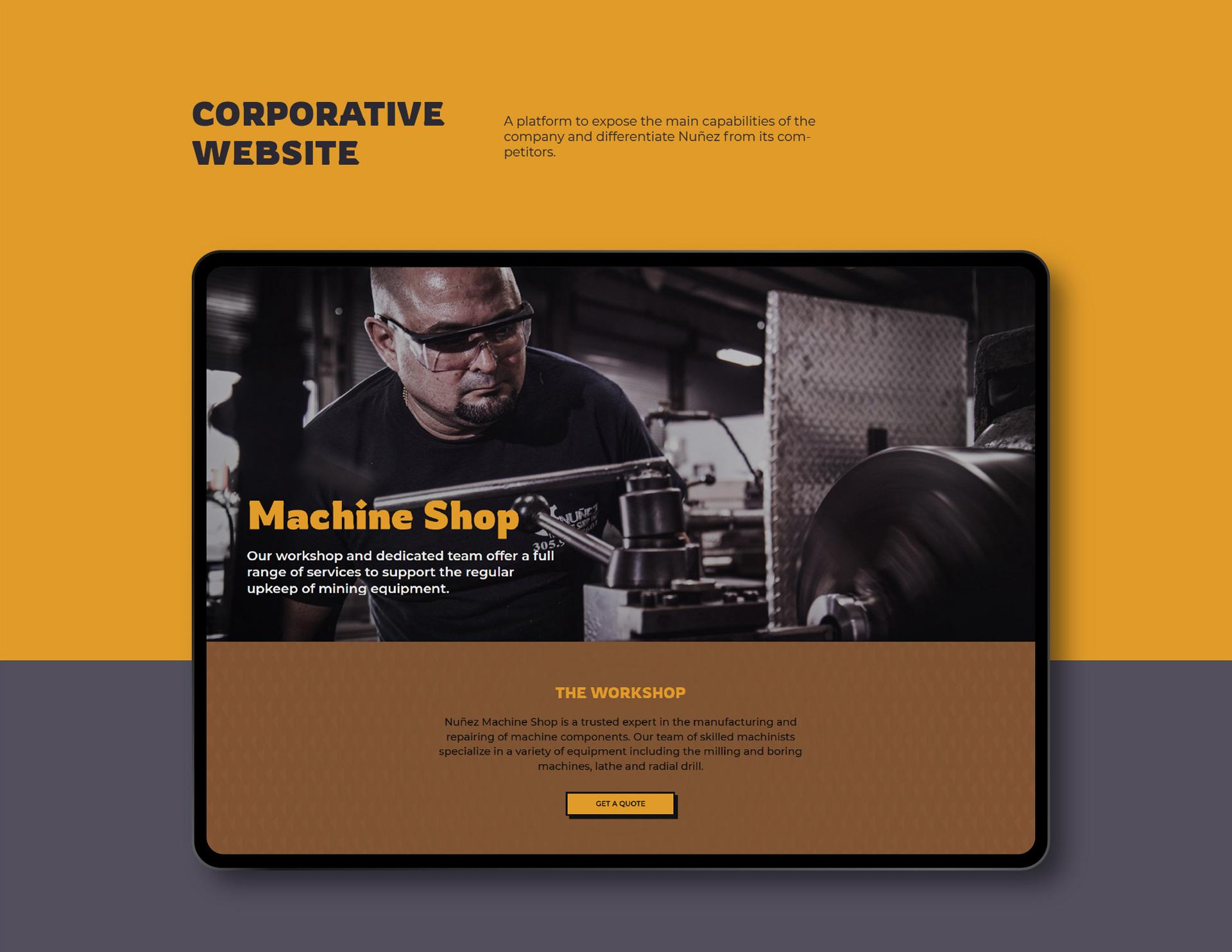Nunez website development by Kinetik Lab Miami