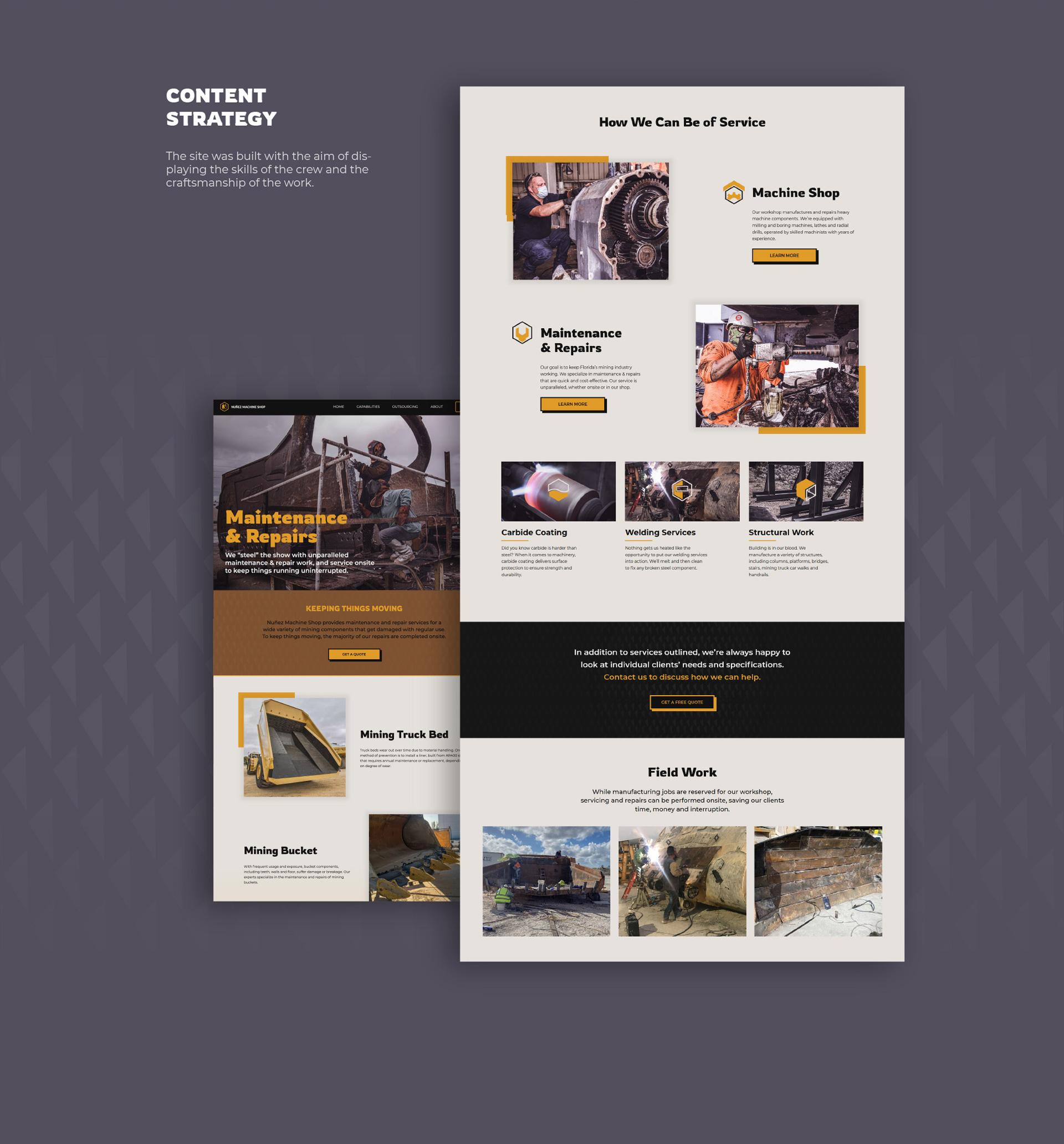 Nunez website development desktop version by Kinetik Lab Miami