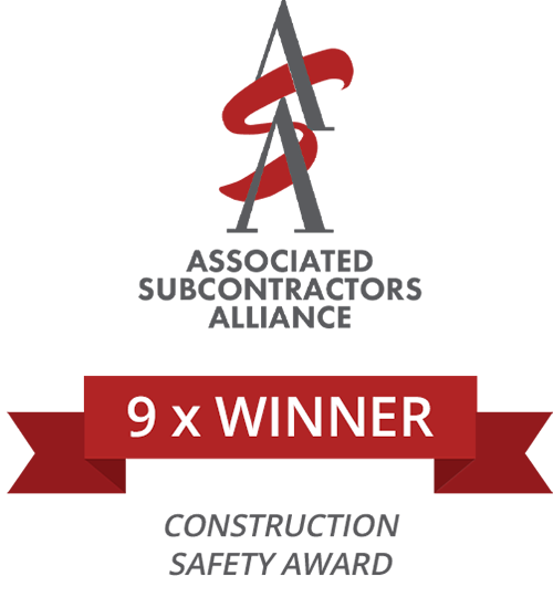 Associated Subcontractors Alliance  Construction Safety Award