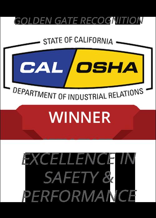 Cal/Osha safety award