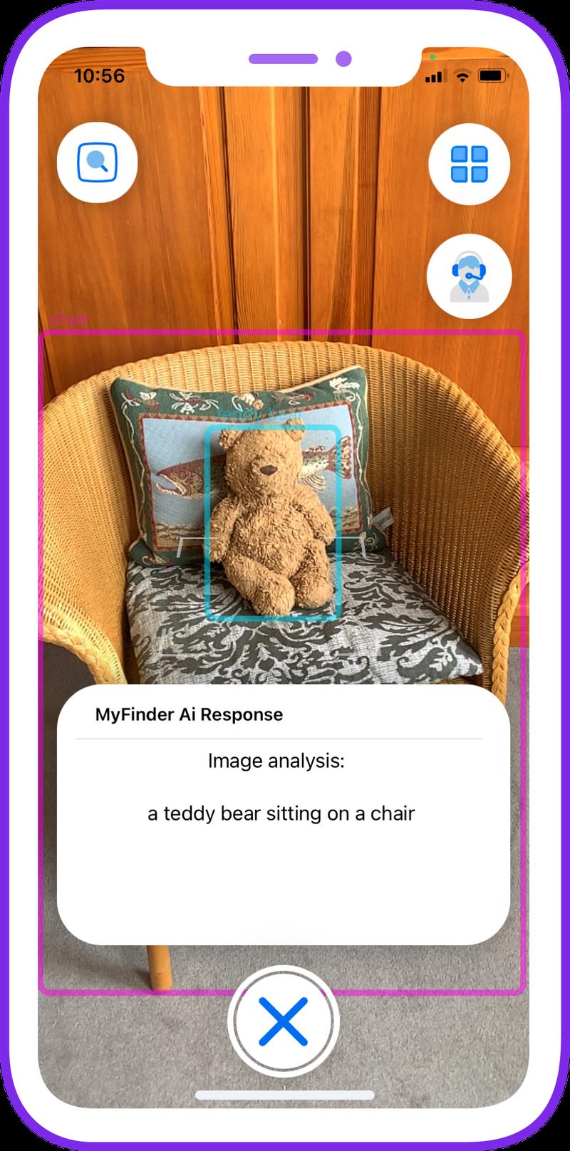 Teddy bear sat on a chair