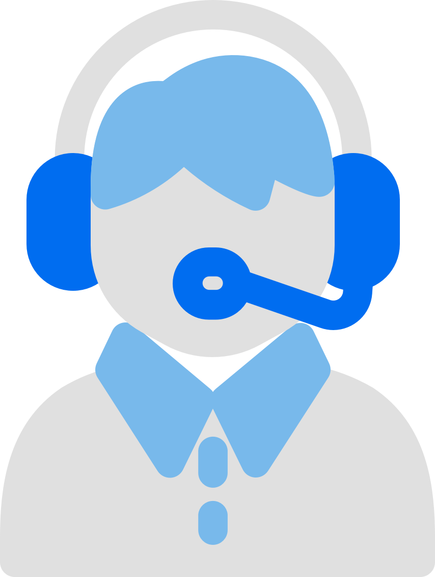 graphic of a man with a headset