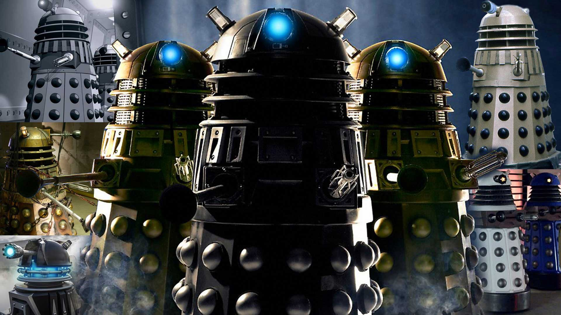 A group of dalek's from BBC's Doctor Who.