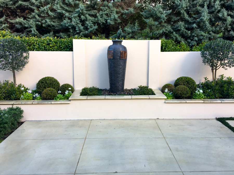 Courtyard landscaped 1