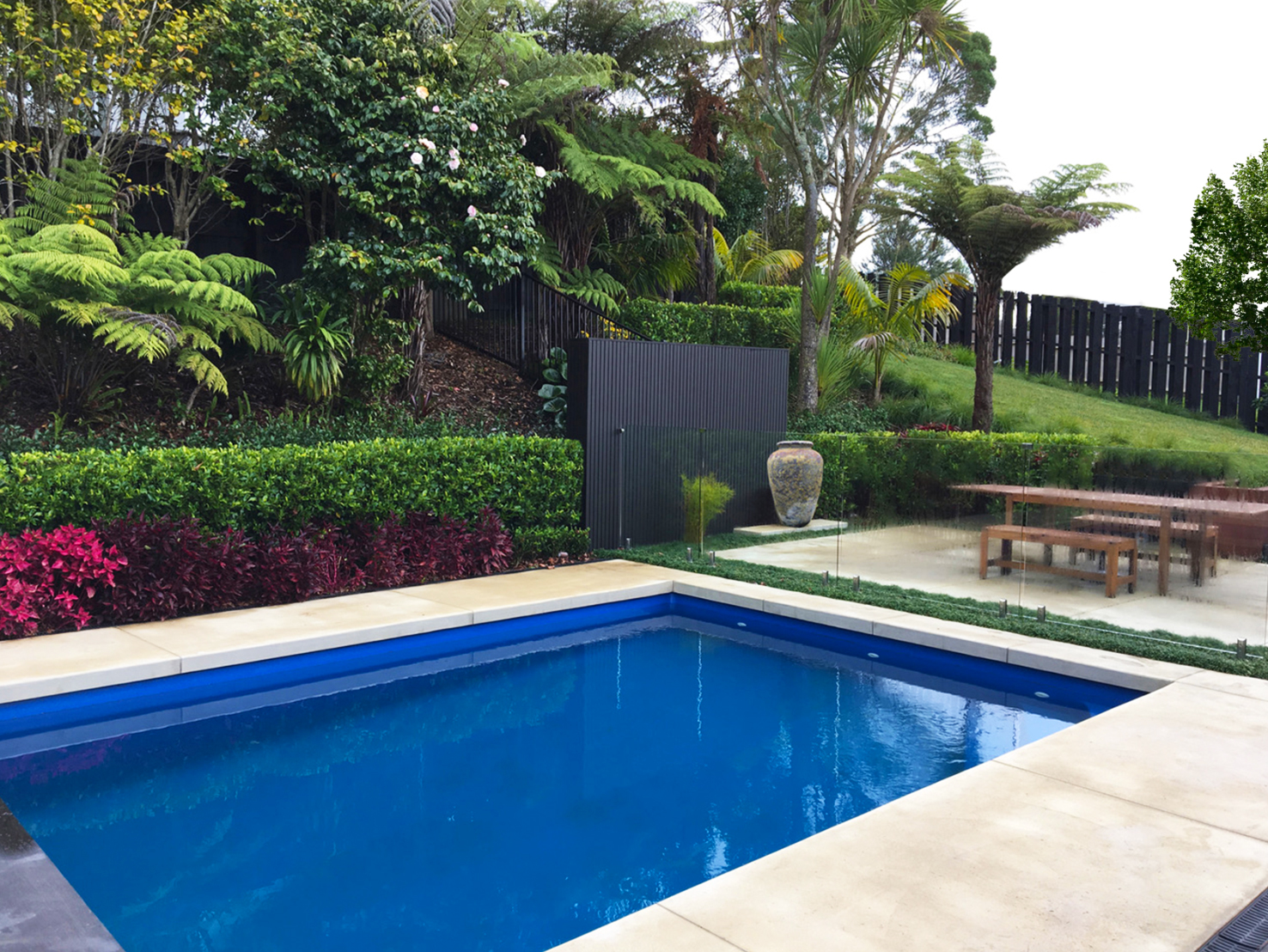 Landscaped swimming pool 1