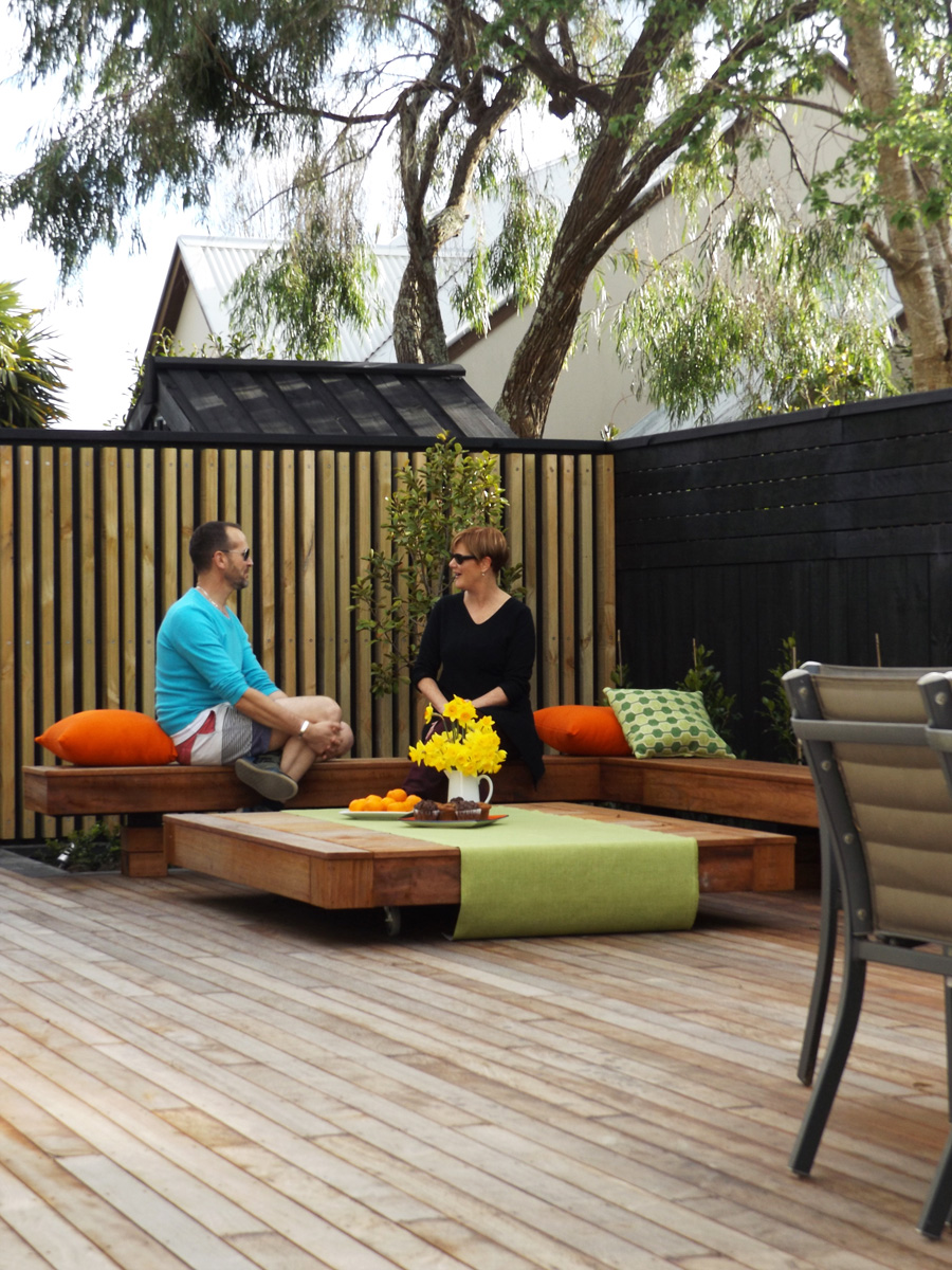 Landscaped patio 2