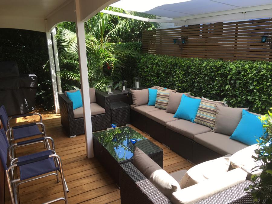 Landscaped patio 3