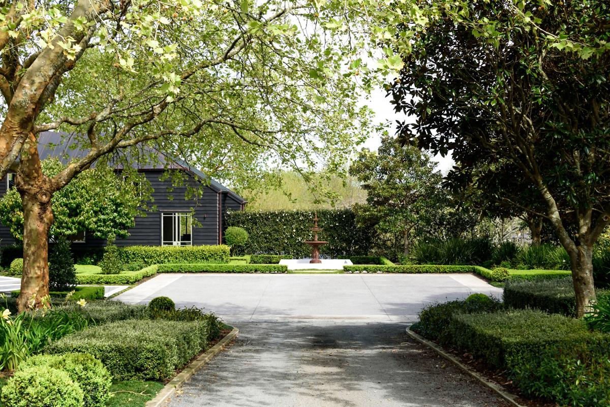 Landscaped carport area 2