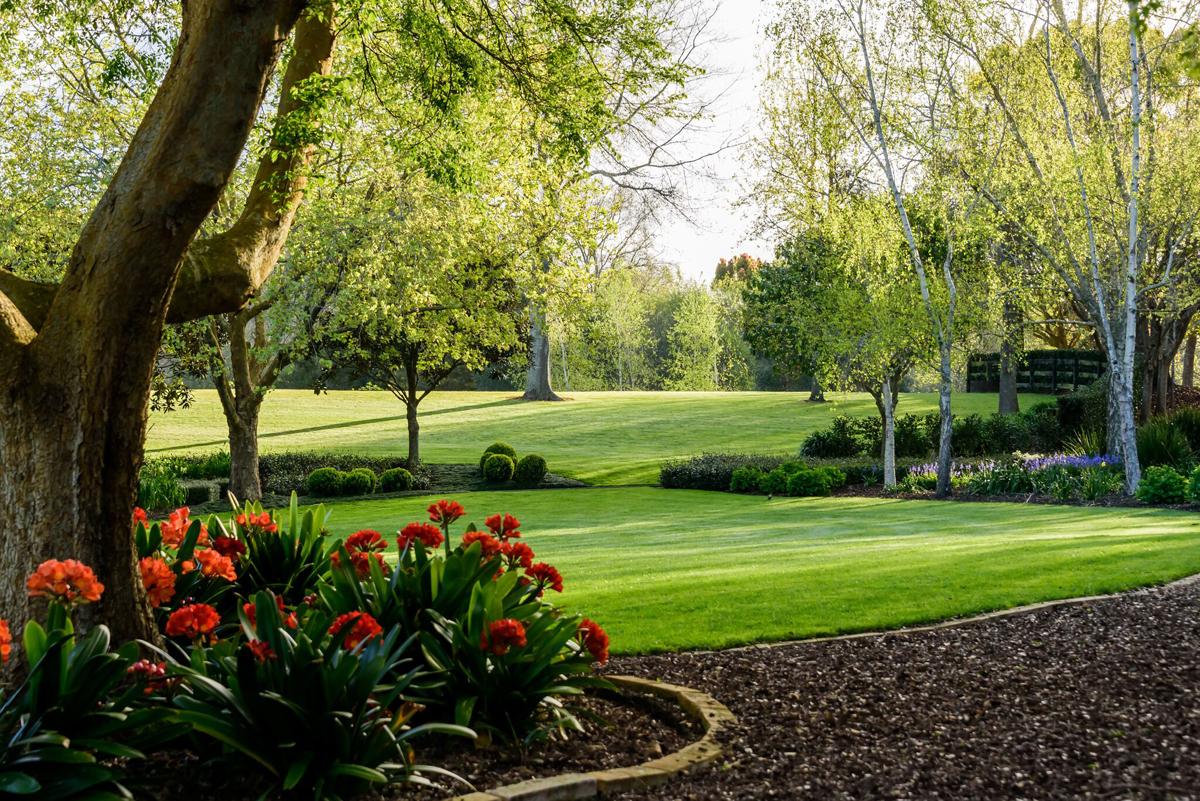Landscaped lawns