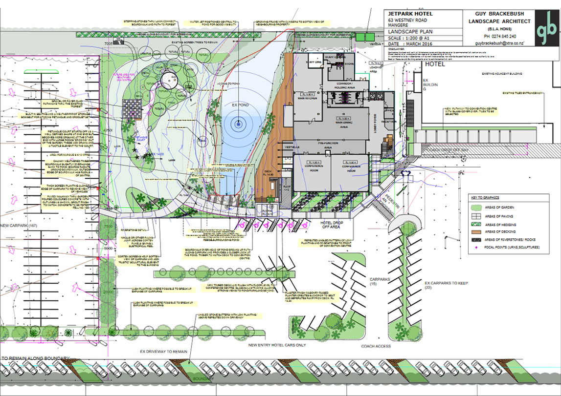 Jetpark Hotel - Landscape plan