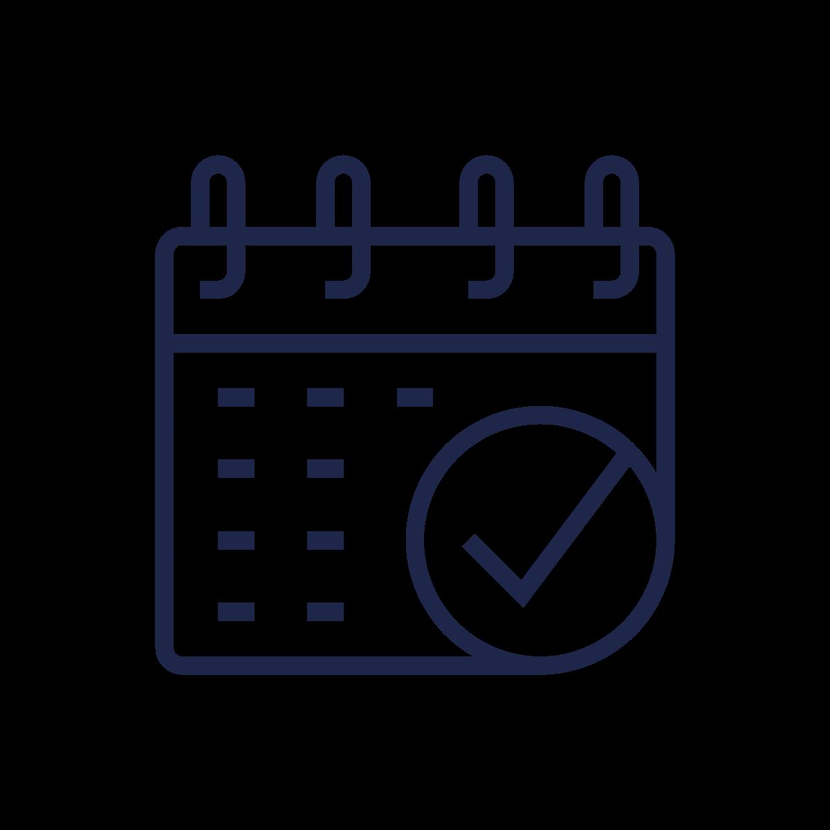 Blue To Do Calendar icon