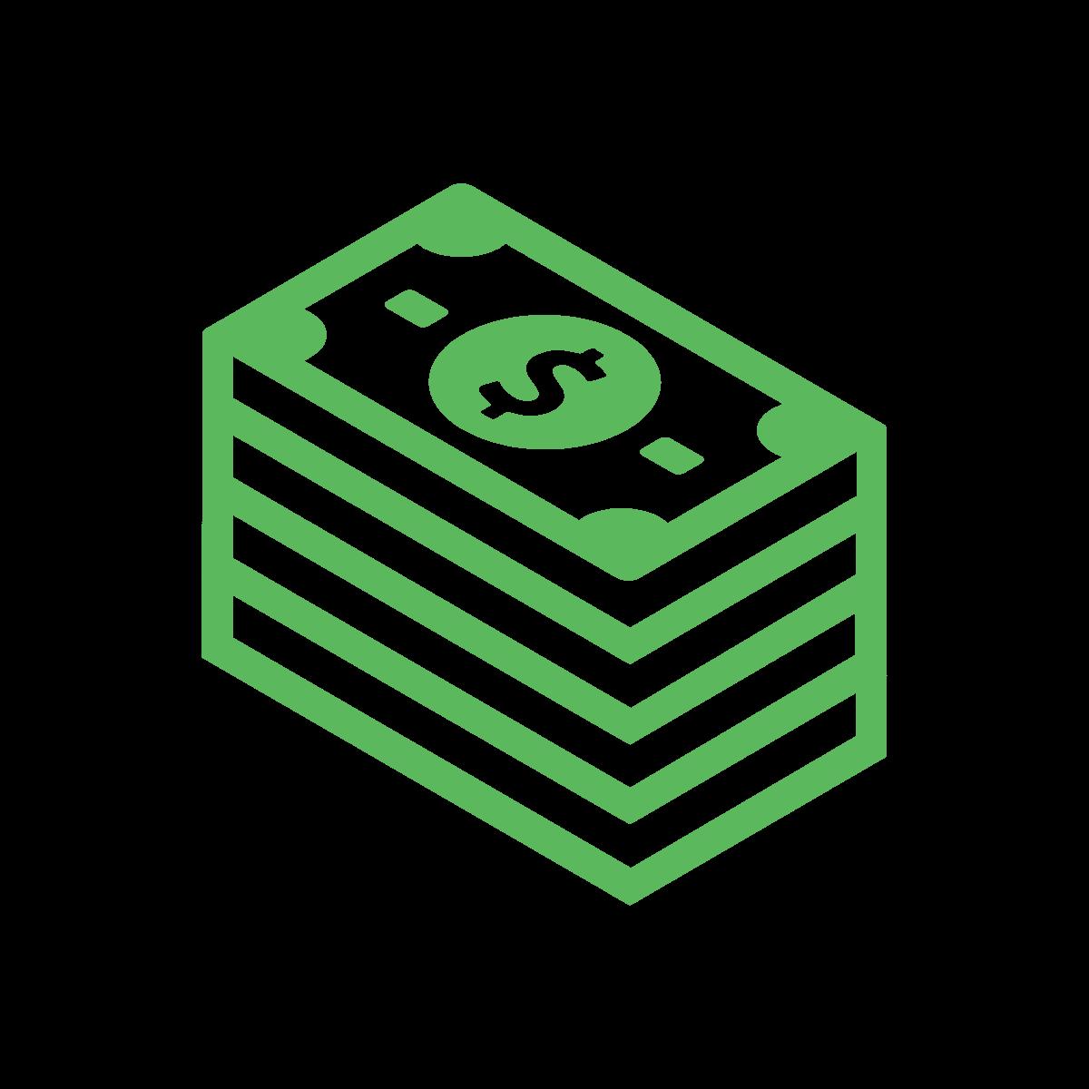 Green Stack of Dollar Bills icon