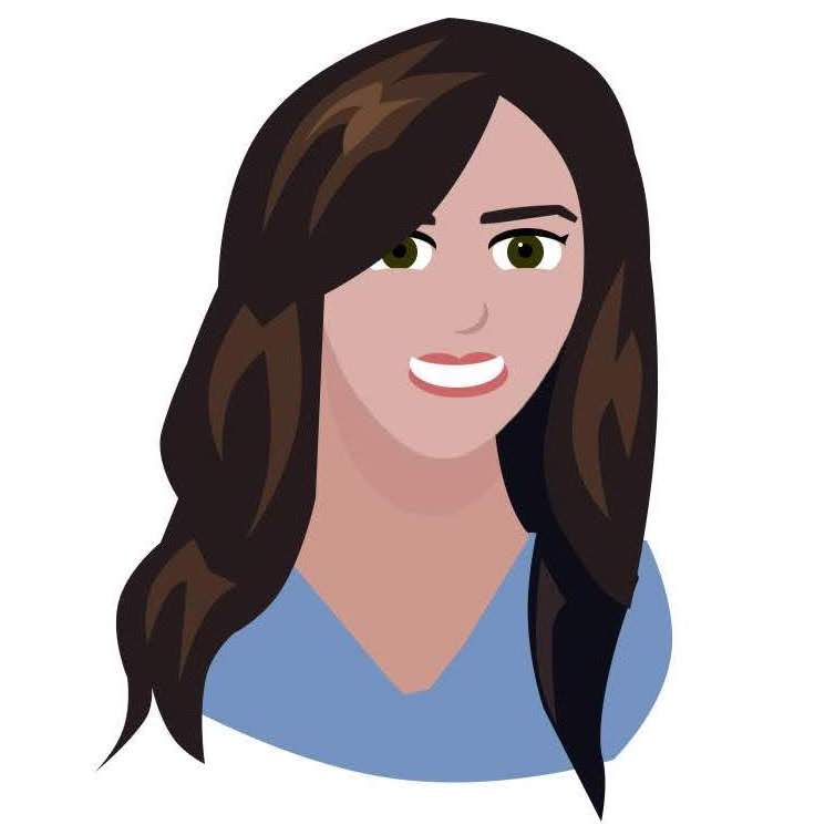 Woman customer service avatar