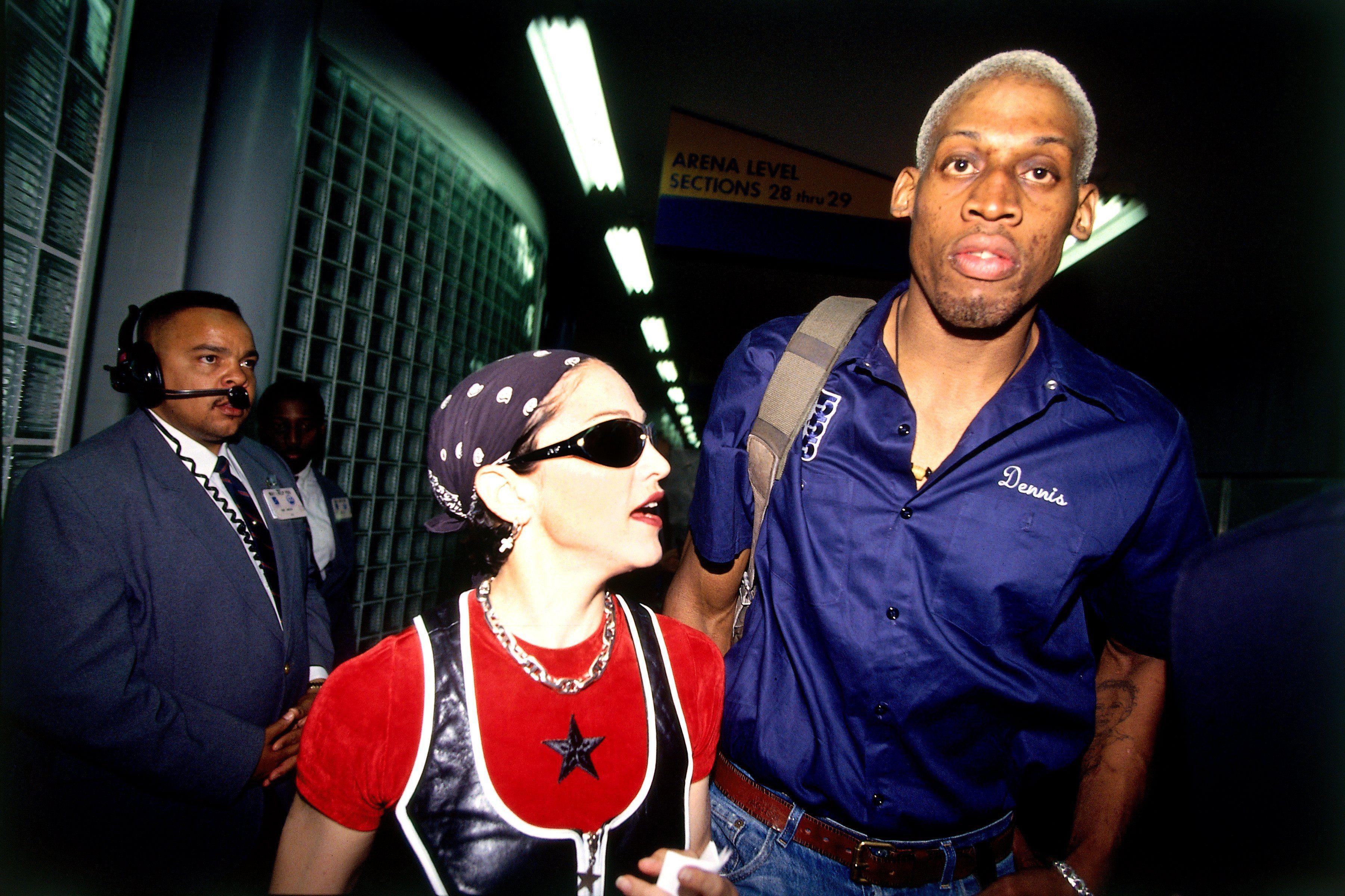 Madonna et Dennis Rodman