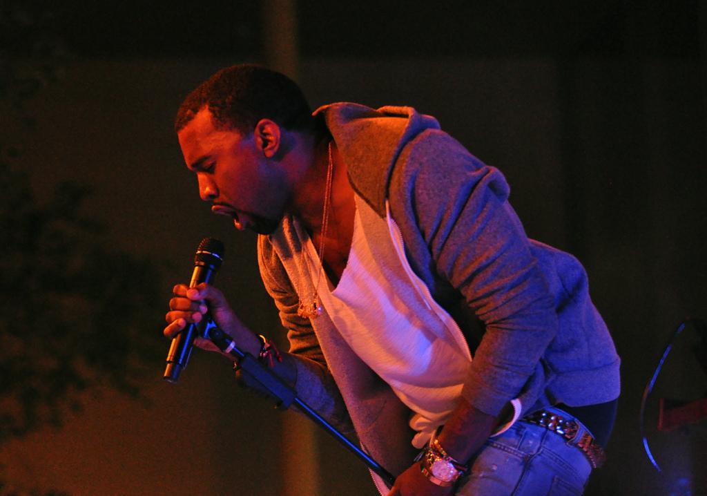 kanye west sur scène