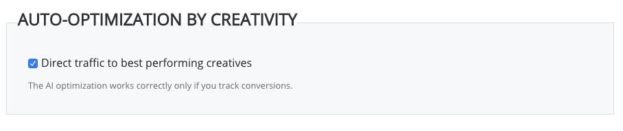 auto-optimization by creativity