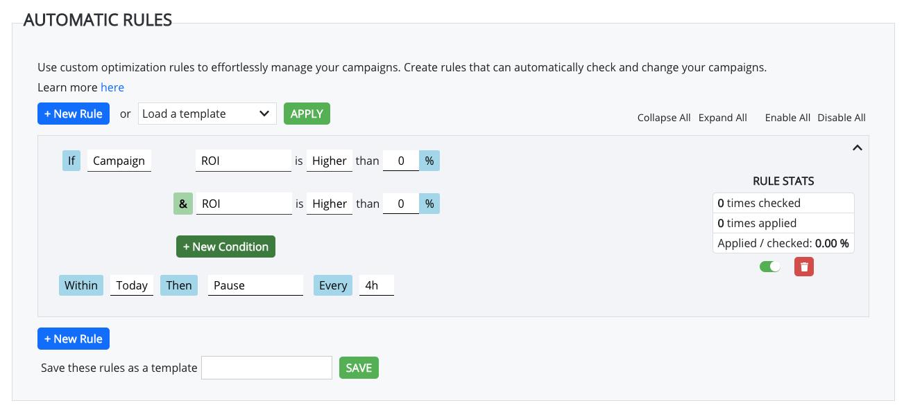 automatic optimization rules