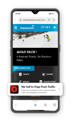 In-page push mobile example