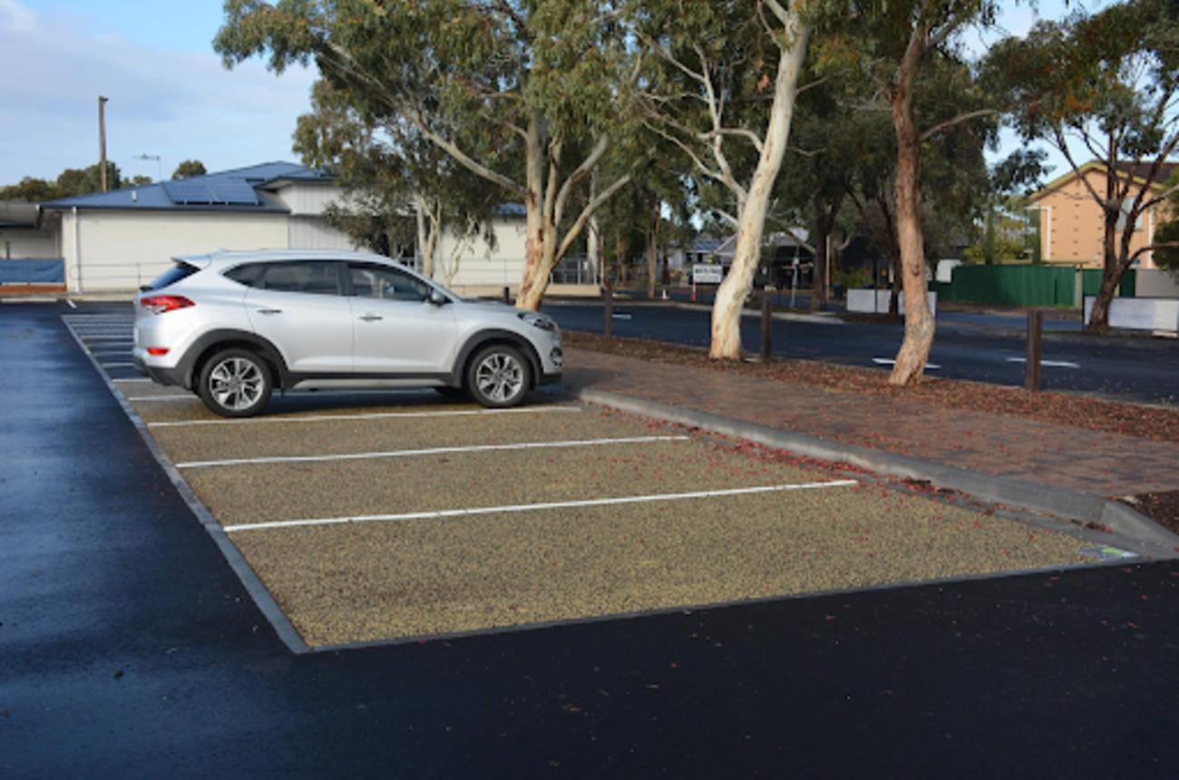 Porous surface carpark