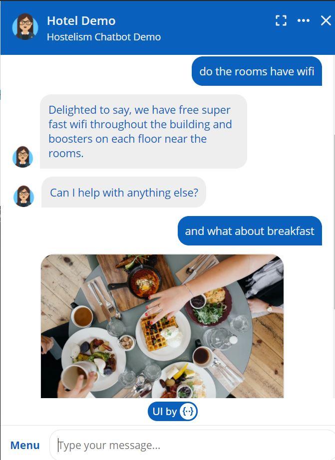 Hotel chatbot rich responses