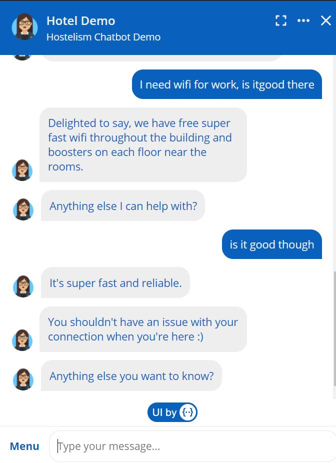 hotel chatbot multiple intents
