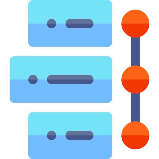 A stylised timeline view