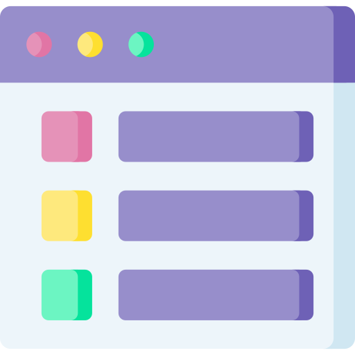 A stylised view of a template