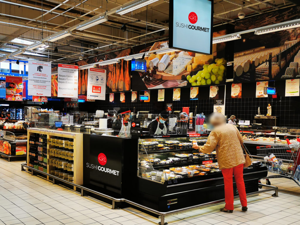 Stand Sushi Gourmet en grande surface