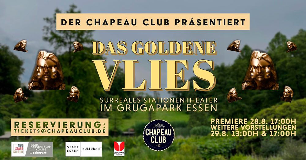 Performance-Wanderung durch den Grugapark mit dem Chapeau Club