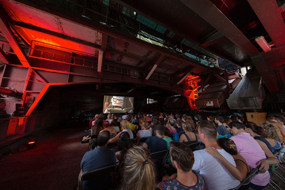 Open-Air-Kino auf Zollverein