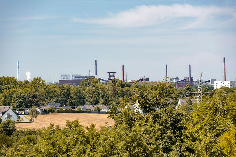 Tolle Panoramaaussicht auf dem Mechtenberg in Kray