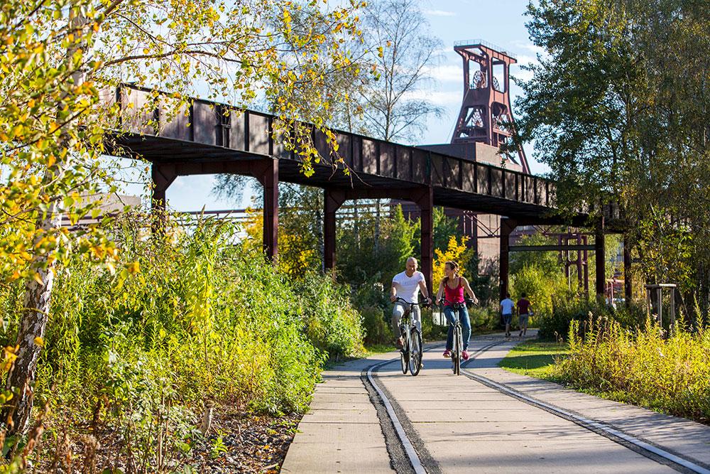 Natur trifft (Industrie)-Kultur auf dem RS1 und Radweg Rheinische Bahn