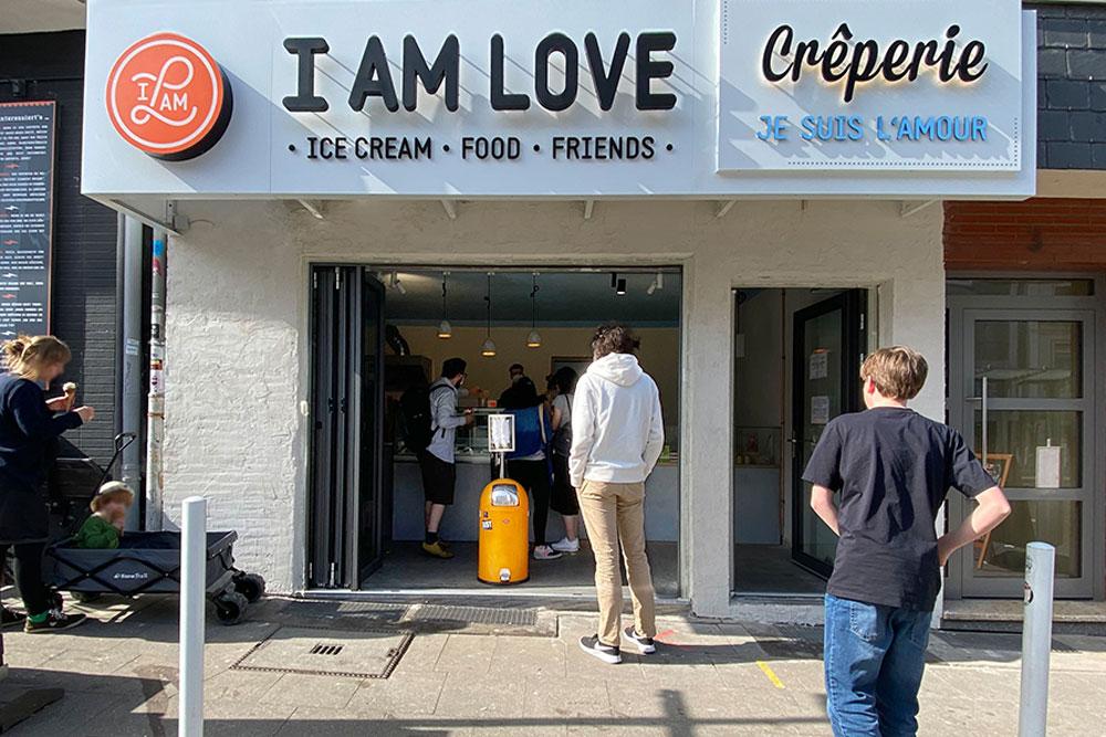 Eis aus rein natürlichen Zutaten bei I AM LOVE