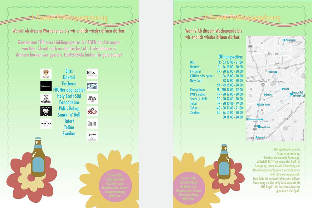 supportyourlocalbar bei der 1. Essener Frühlingswanderung